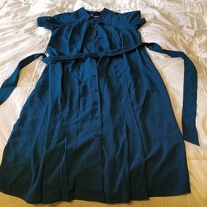 Midi Teal Dress - Size S